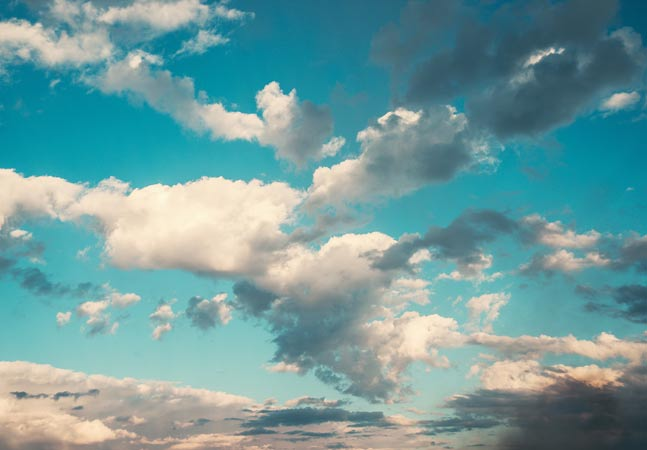 Blue Sky with Clouds Graphic