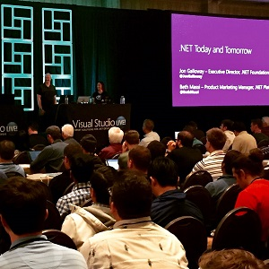 Jon Galloway and Beth Massi at Visual Studio Live! in San Diego.