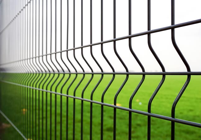 Gray Fence and Green Grass Graphic