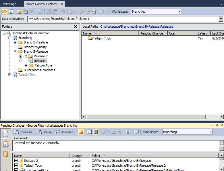 Inside TFS: Branch by Release in TFS 2010 -- Visual Studio