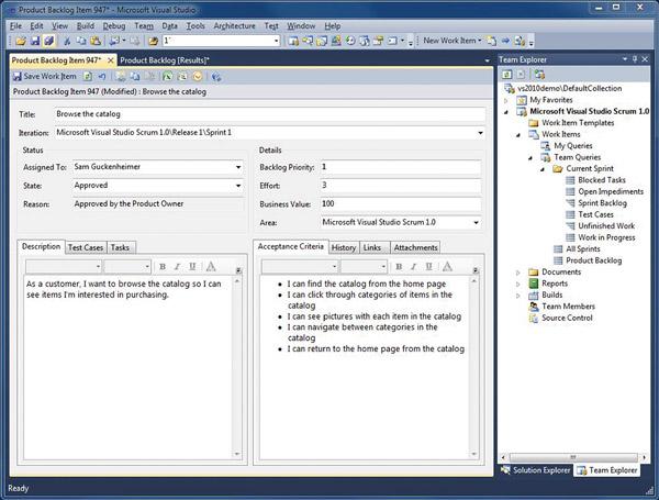 Using The Visual Studio Scrum Process Template Visual Studio Magazine