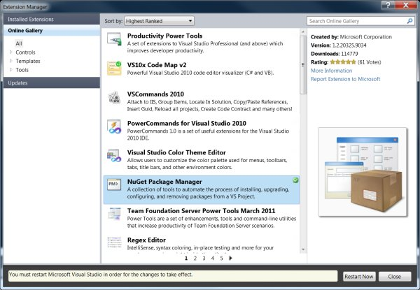 Inside the NuGet Package Manager -- Visual Studio Magazine