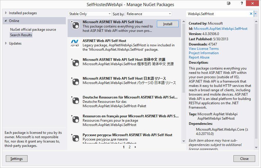 Run ASP NET Web API Inside Your Application -- Visual Studio Magazine