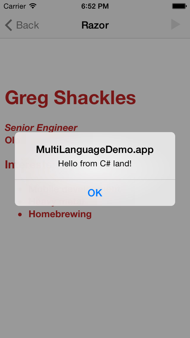 Polyglot Apps for iOS, Android and Beyond -- Visual Studio Magazine