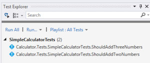 Visual Studio Test Explorer showing Fixie Tests