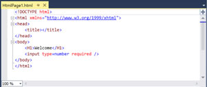 Default HTML Editing Experience in Visual Studio 2013