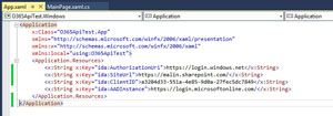 App.xaml File Should Now Look Like This