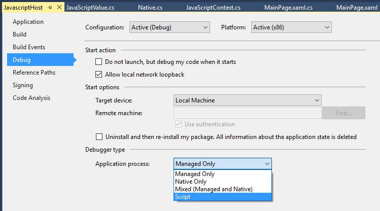 Hosting JavaScript in a Windows 10 App -- Visual Studio Magazine
