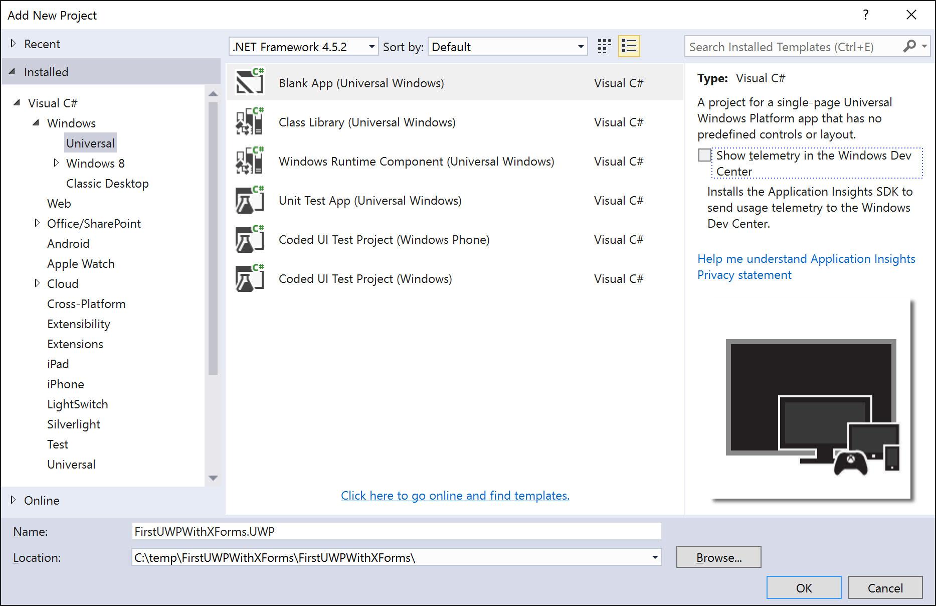 Building UWP Apps Using Xamarin Forms -- Visual Studio Magazine