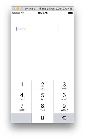 iPhone 5 Simulator with Numeric Keypad