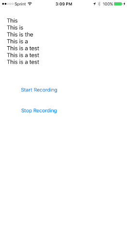 Simple UI for Speech Recognition App in iOS 10