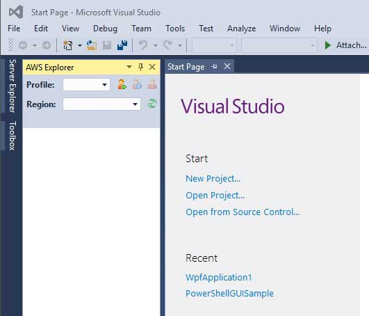 Building onto the AWS Cloud with Visual Studio -- Visual