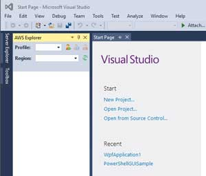 Choose the AWS Explorer Option from Visual Studio's View Menu