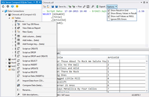 Modeling Queries with SQLite/SQL Server Compact Toolbox