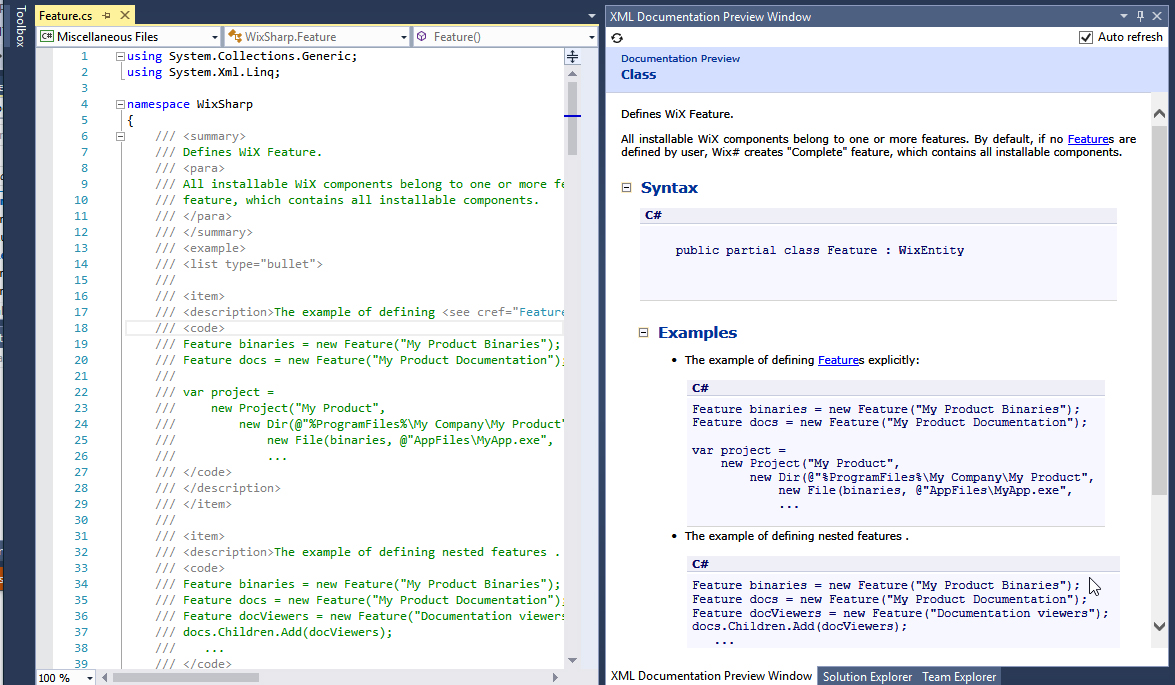Doing Visual Studio and  NET Code Documentation Right