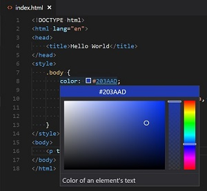 Picking a Color from HTML Inline Style