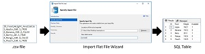 The Import Flat File Wizard