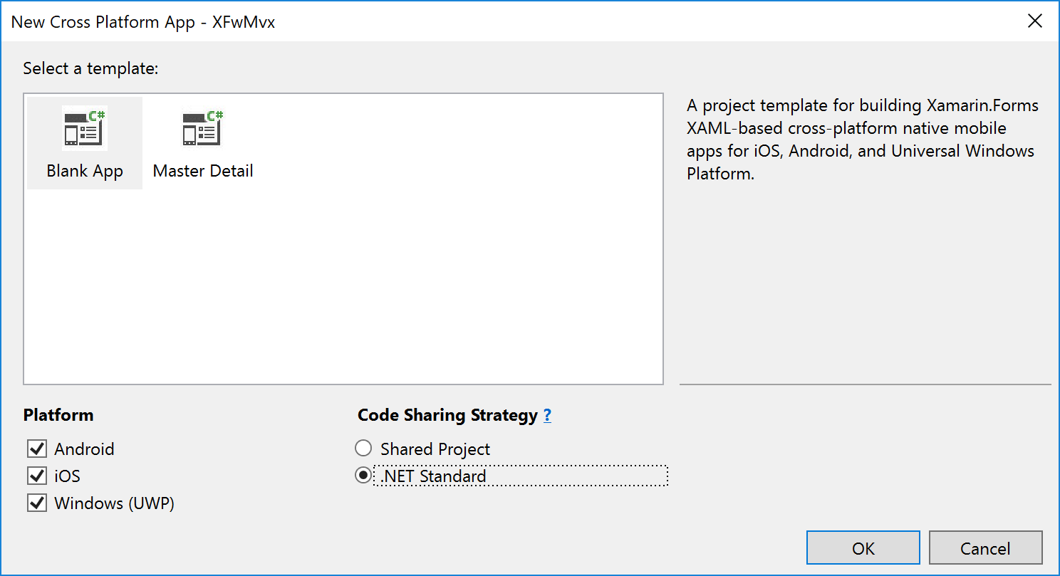 Build a Xamarin Forms Application with MvvmCross -- Visual