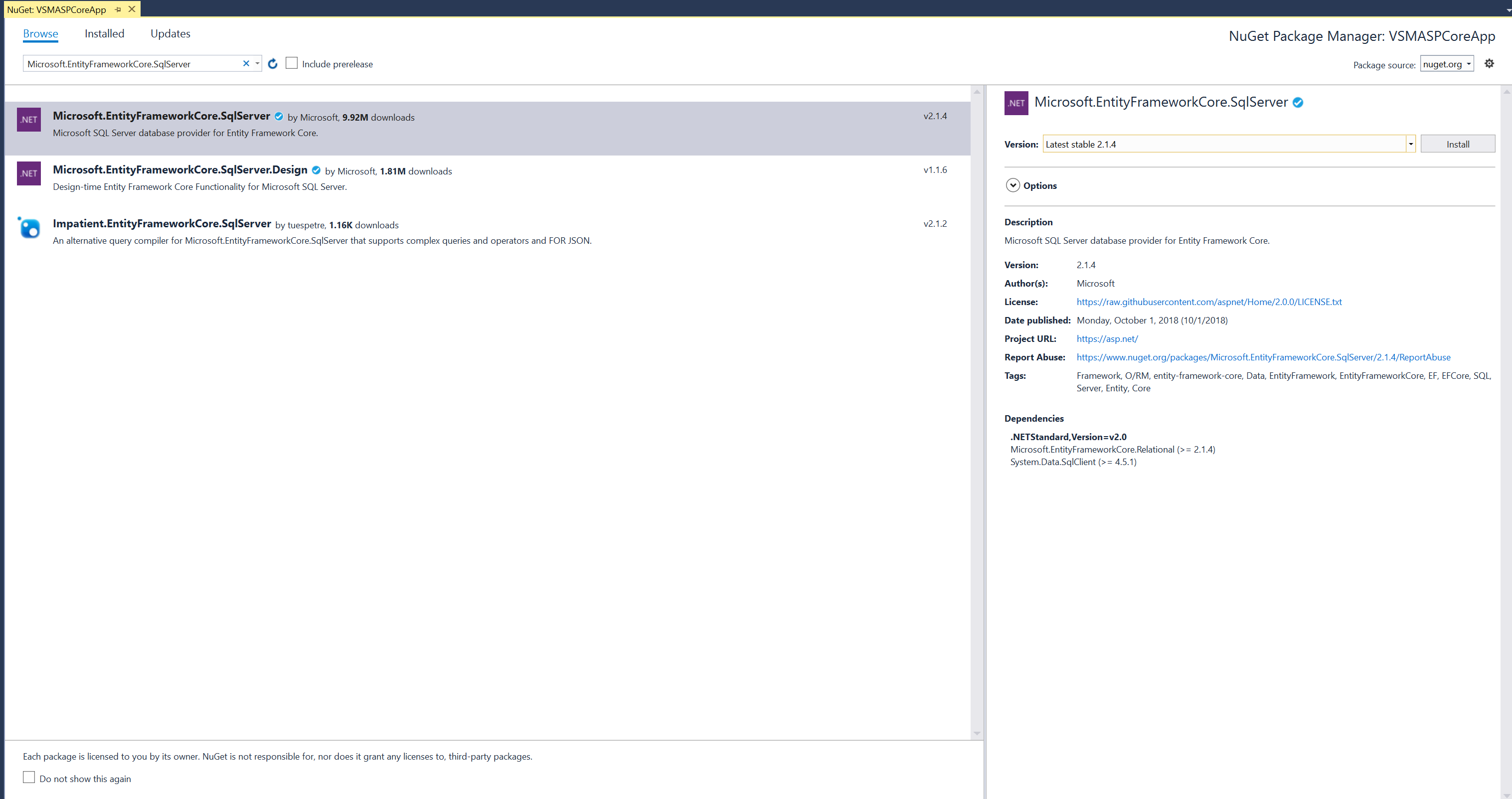 ASP NET Core: Learning the Ropes, Part 2 -- Visual Studio