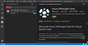 HDInsight Tools for Visual Studio Code