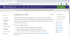 Updated Extension API documentation
