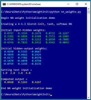 How to Do Neural Network Glorot Initialization Using Python