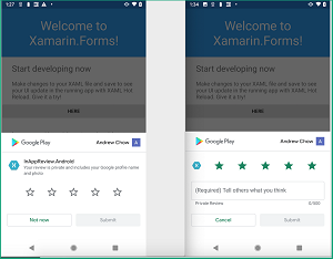 Android In-App Review in Xamarin.Forms