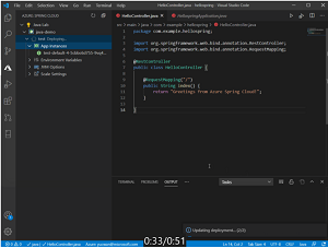 VS Code Extension for Azure Spring Cloud in Animated Action