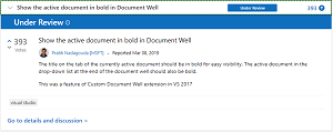 Show the active document in bold in Document Well