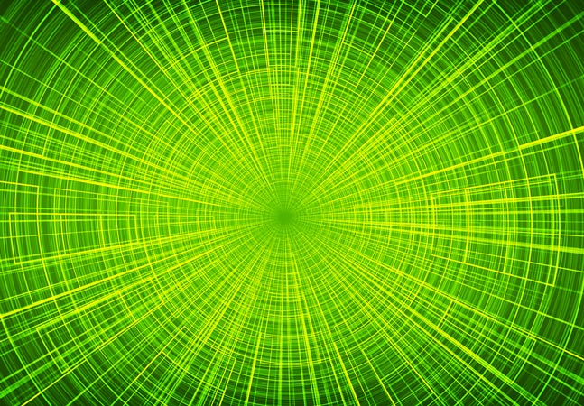 Green Spiral Graphic
